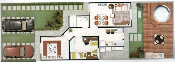 Planta baixa de casas 10 modelos incr veis para inspirar - Plantas para casa ...