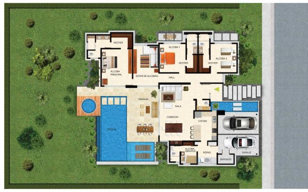 Plantas de casas de campo modelos incr veis dispon veis for Modelos de piscinas campestres