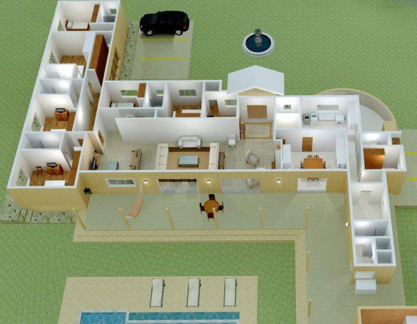 Plantas de casas archives plantas de casas fachadas de for Modelo de casa en 3d