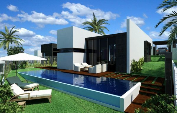 100 modelos de casas modernas for Fachadas de chalets modernos