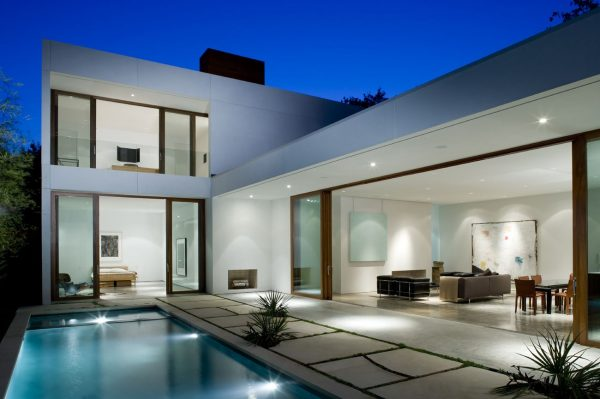 100 modelos de casas modernas for Casas con piscina interior fotos