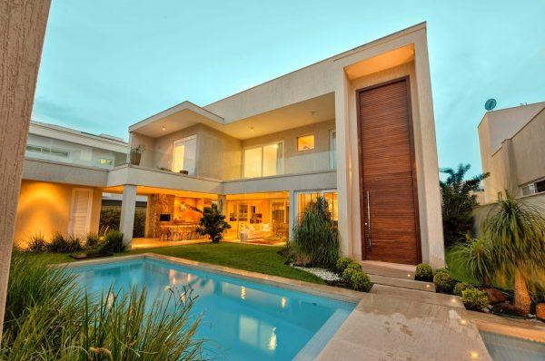 100 modelos de casas modernas for Fachadas casas modernas
