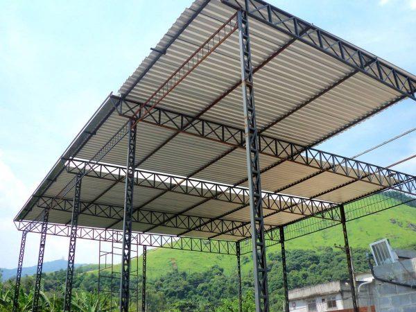 telhado metálico galvanizado