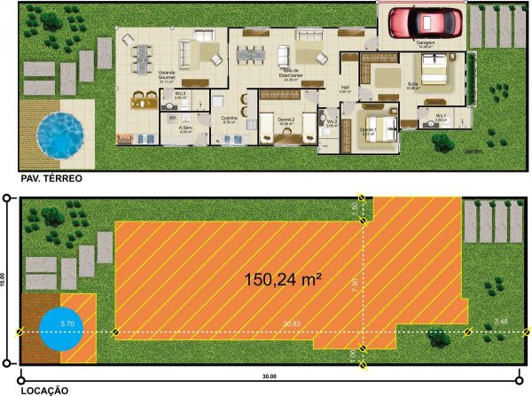 Plantas de casas online 10 modelos incr veis para inspirar for Casa online