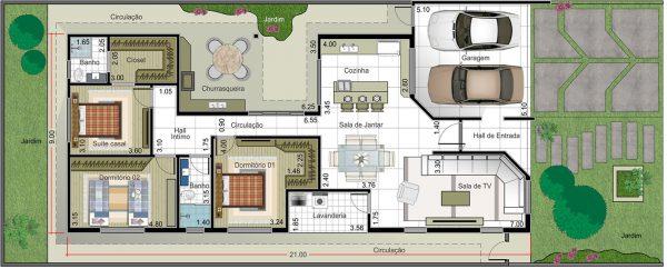 Muito Planta De Casa Sobrado De 250 M2 Plantas De Casas - Casas On Line  OS66