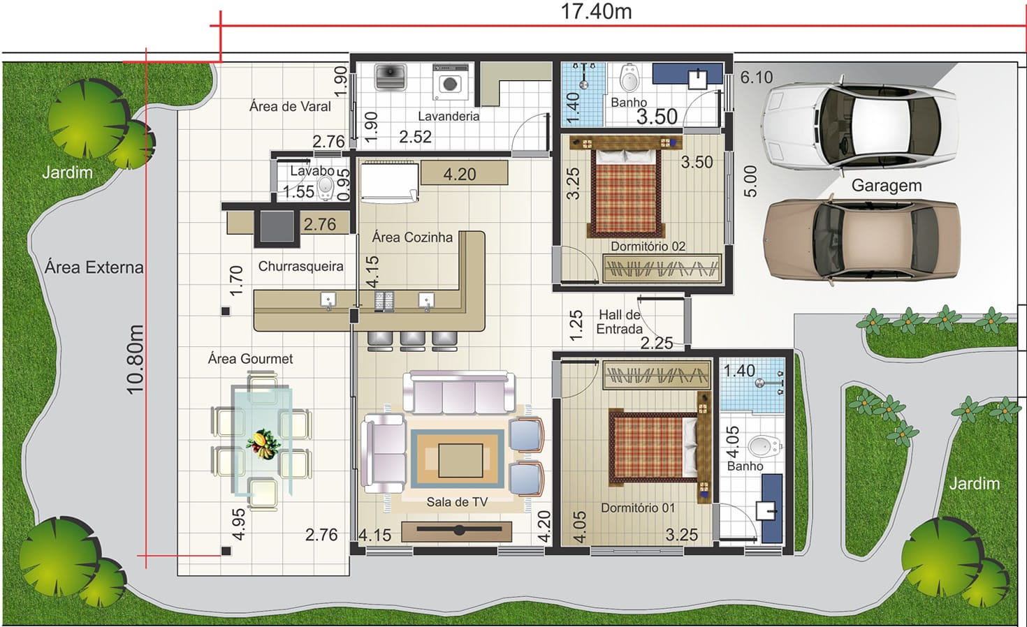 Plantas de casas 37 modelos para inspirar for Casa de dos plantas wifi