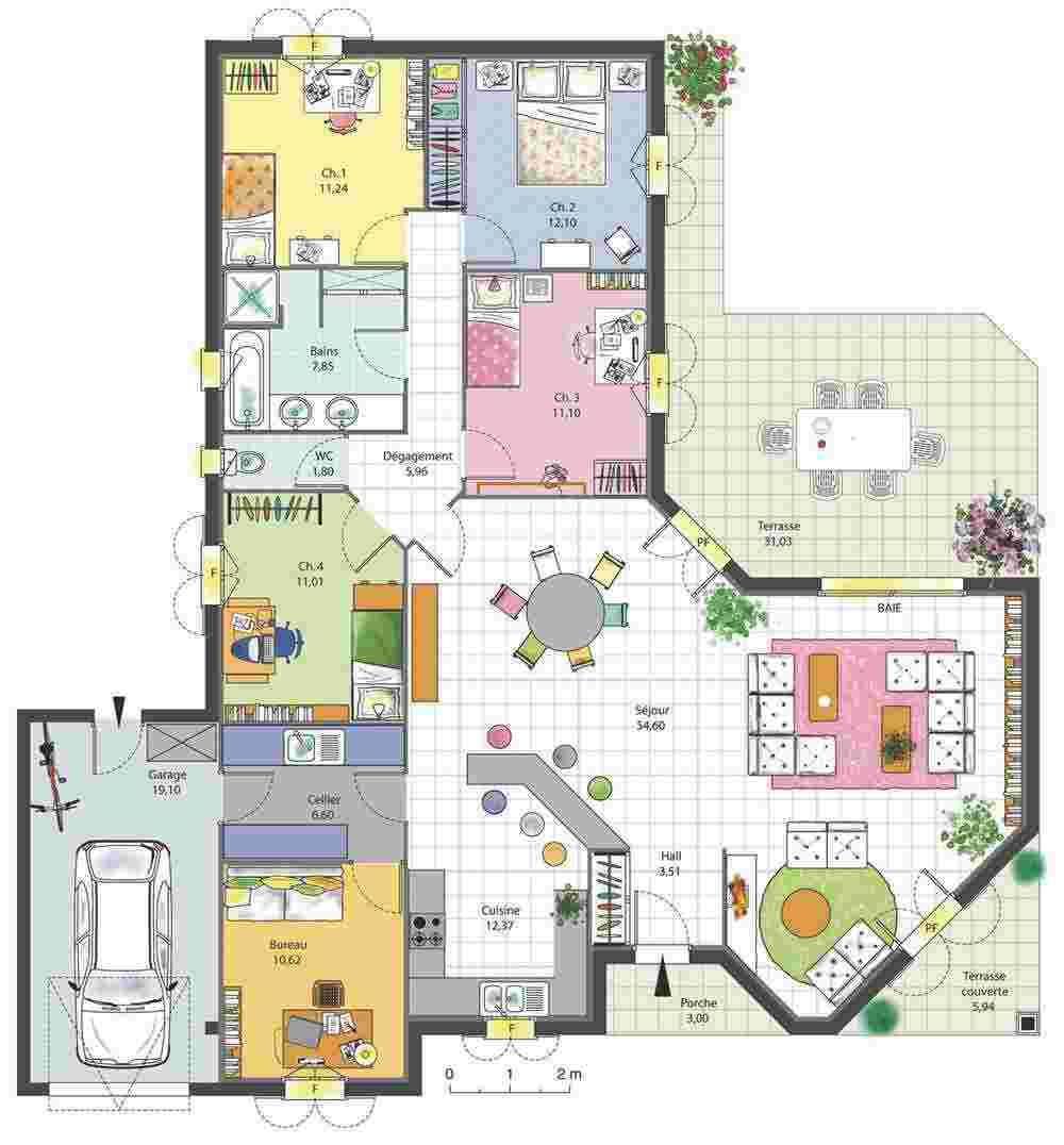 Plantas de casas 37 modelos para inspirar for Les plans des maisons