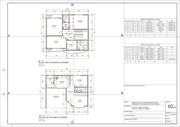 Suficiente Projeto Casa 2 Pavimentos. M Casa Tradicional Quartos Quartos Sem  EB96
