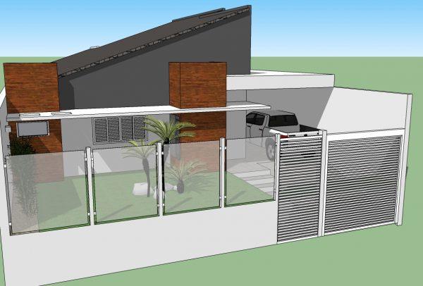 Fachada de casa terrea com telhado fachada de casa - Fachada de casa ...