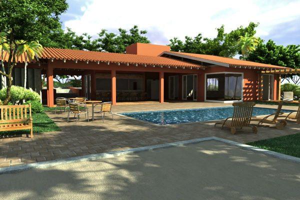 35 modelos de casas terreas for Modelos de casas medianas